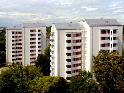 Karlsruhe Forststrasse 3+5, Komplettsanierung im sozialen Wohnungsbau, MACON BAU GmbH Magdeburg