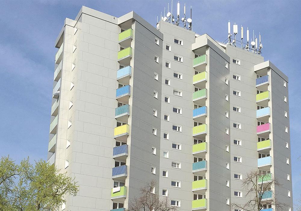 Mannheim Hessische Strasse, Komplettsanierung Hochhausensemble, MACON BAU GmbH Magdeburg