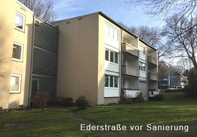 vor Sanierung, Bochum Flüssesiedlung, Ederstrasse 10+12, energetische Sanierung, MACON BAU GmbH Magdeburg