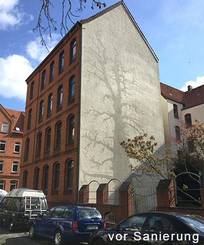 vor Sanierung, Hannover-List, energetische Sanierung und Dachgeschossaufbau unter Denkmalschutzauflagen