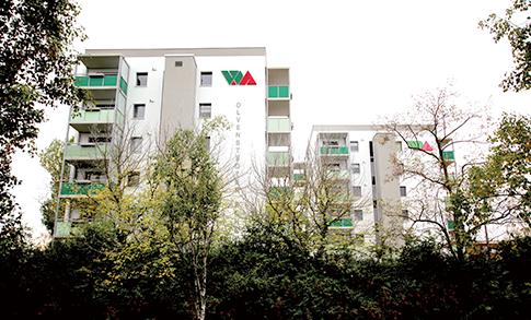 Magdeburg, Olvenstedter Scheid, Modernisierung und Komplettsanierung unter bewohnten Bedingungen, zwei Bauphasen, MACON BAU GmbH Magdeburg