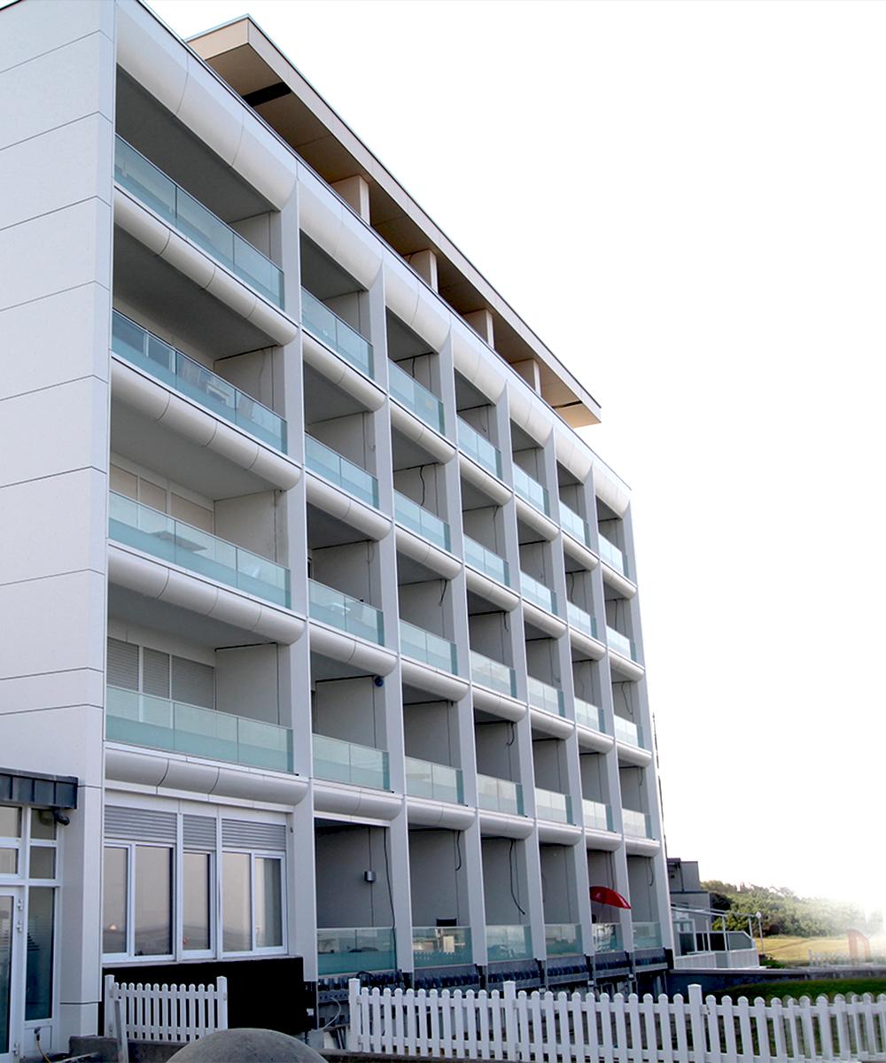Norderney, energetische Sanierung, Alucobond-Fassade, MACON BAU GmbH Magdeburg