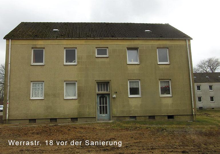 vor Sanierung, Bochum Grumme, Sorpe- und Werrastrasse, energetische sanierung und Modernisierung von 15 MFH mit insgesamt 62