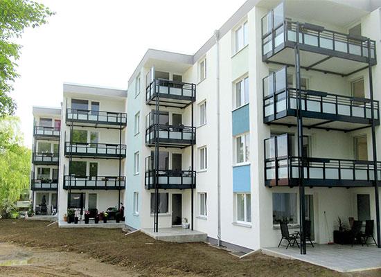 Hildesheim Rostocker Str. 4-8, Komplettsanierung 2019 inkl. neuer Aufzugstürme, MACON BAU GmbH Magdeburg