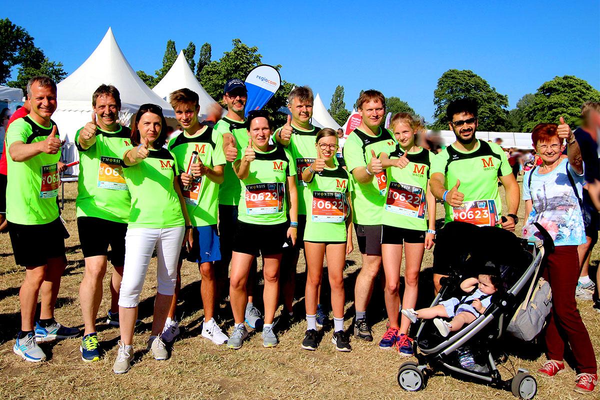 Firmenlauf MACON-Team alle 2019, MACON Bau GmbH Magdeburg