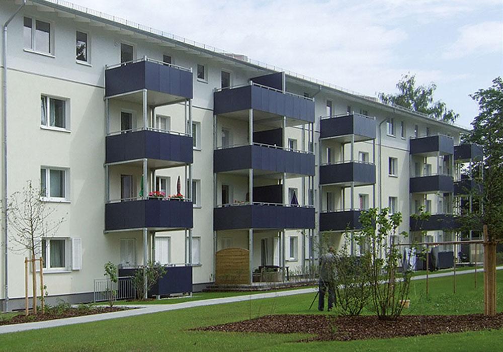 Erding, Karlstrasse 8-14 u. 11-21, Komplettsanierung und Dachgeschoss, durch MACON BAU GmbH Magdeburg