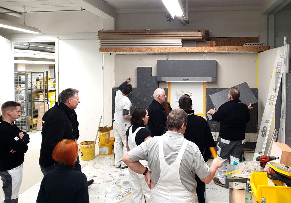 Demo Dämmung in Sto-Firmenzentrale