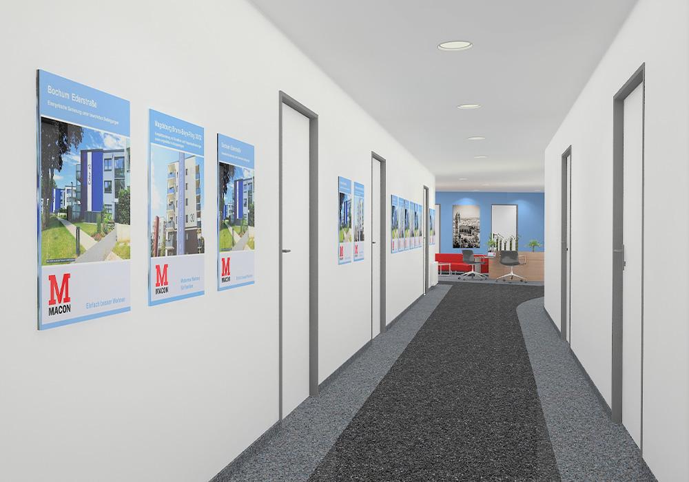 Neues Büro der MACON BAU GmbH Magdeburg