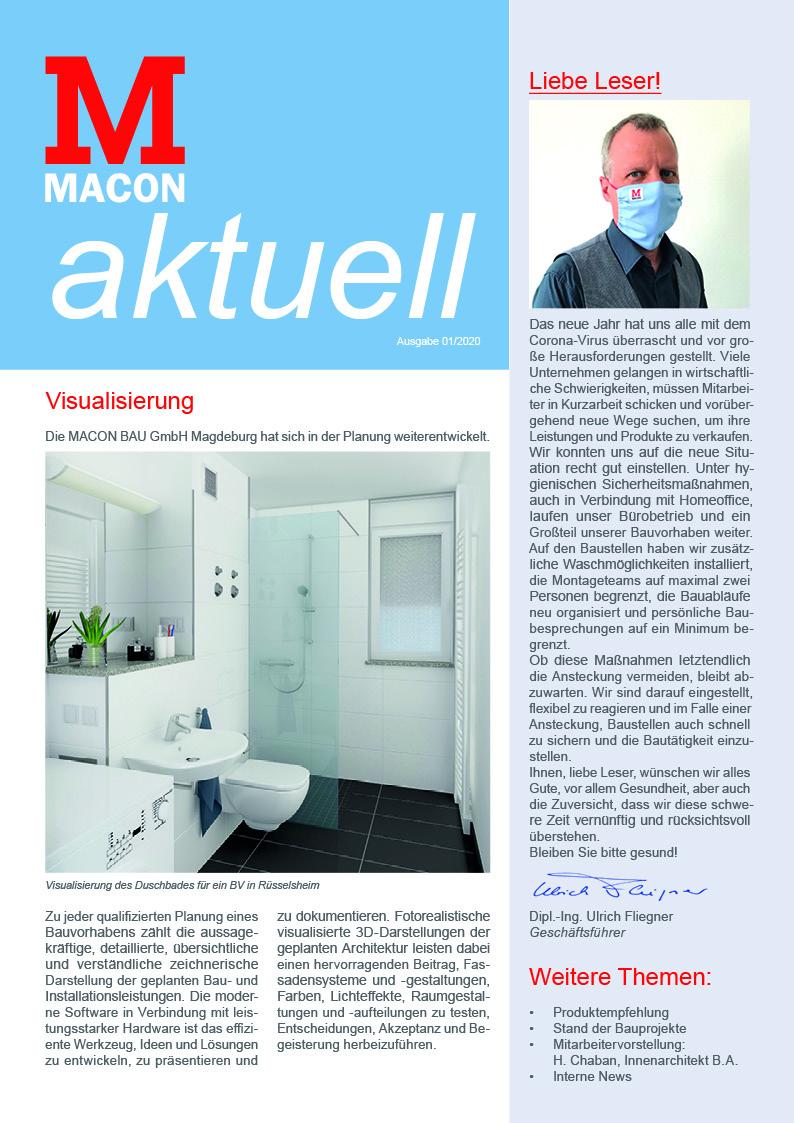 MACON-aktuell, Zeitschrift der MACON BAU GmbH Magdeburg