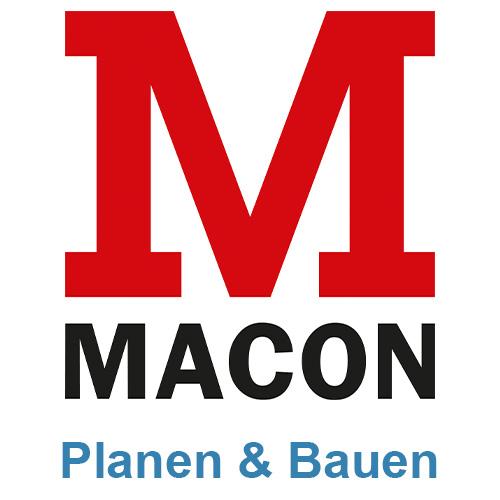 Logo und Untertitel der MACON BAU GmbH Magdeburg