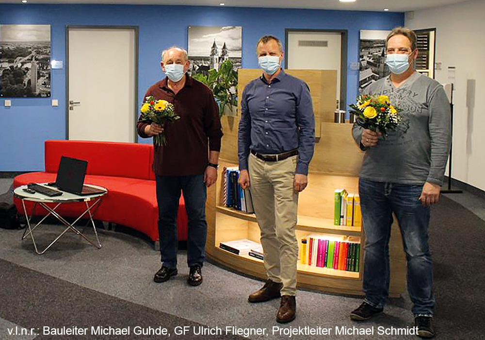 25. Jubiläum von Michael Schmidt und Michael Guhde bei der MACON BAU GmbH Magdeburg