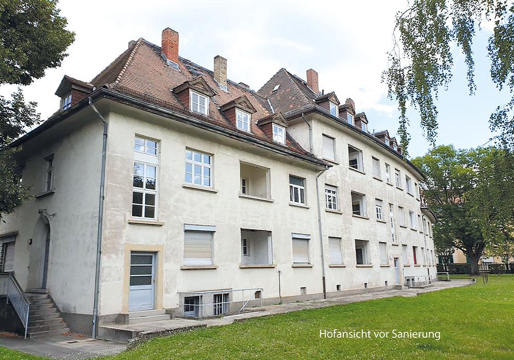 vor Sanierung, Mainz, Schneckenburgerstraße 1-5, BV der MACON BAU GmbH Magdeburg