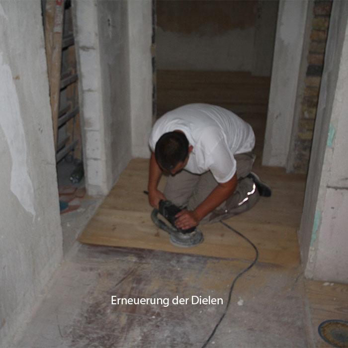Bauphase Fußbodensanierung, Mainz, Schneckenburgerstraße 1-5, BV der MACON BAU GmbH Magdeburg