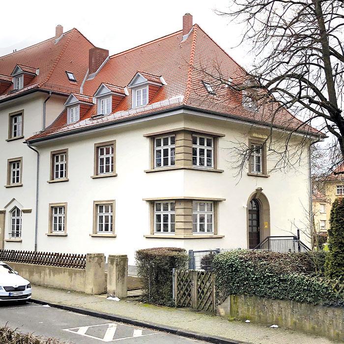 Hauseingang, Mainz, Schneckenburgerstraße 1-5, BV der MACON BAU GmbH Magdeburg