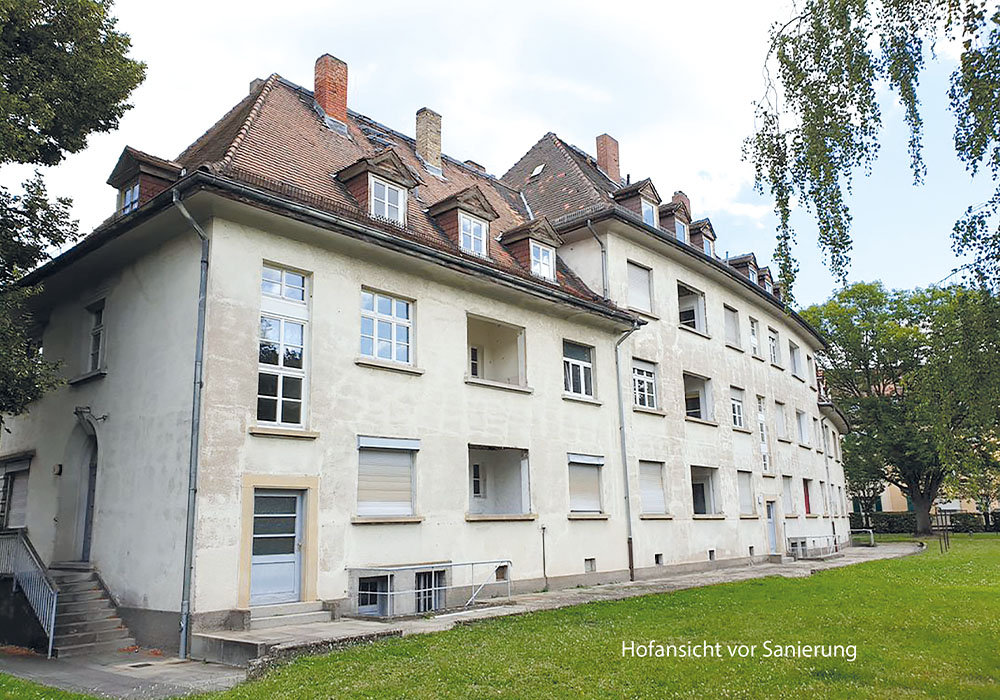 BV Mainz Schneckenburgerstraße; Komplettsanierung unter Denkmalschutzauslagen durch die MACON BAU GmbH Magdeburg, 2019-2020