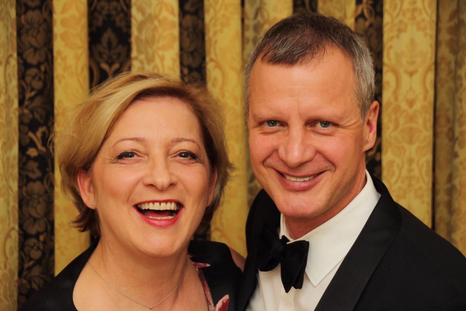Gesellschafter und Geschäftsführer der MACON BAU GmbH Magdeburg Dipl.-Ing. U. Fliegner mit Ehefrau Dipl.-Pflegew. S. Fliegner